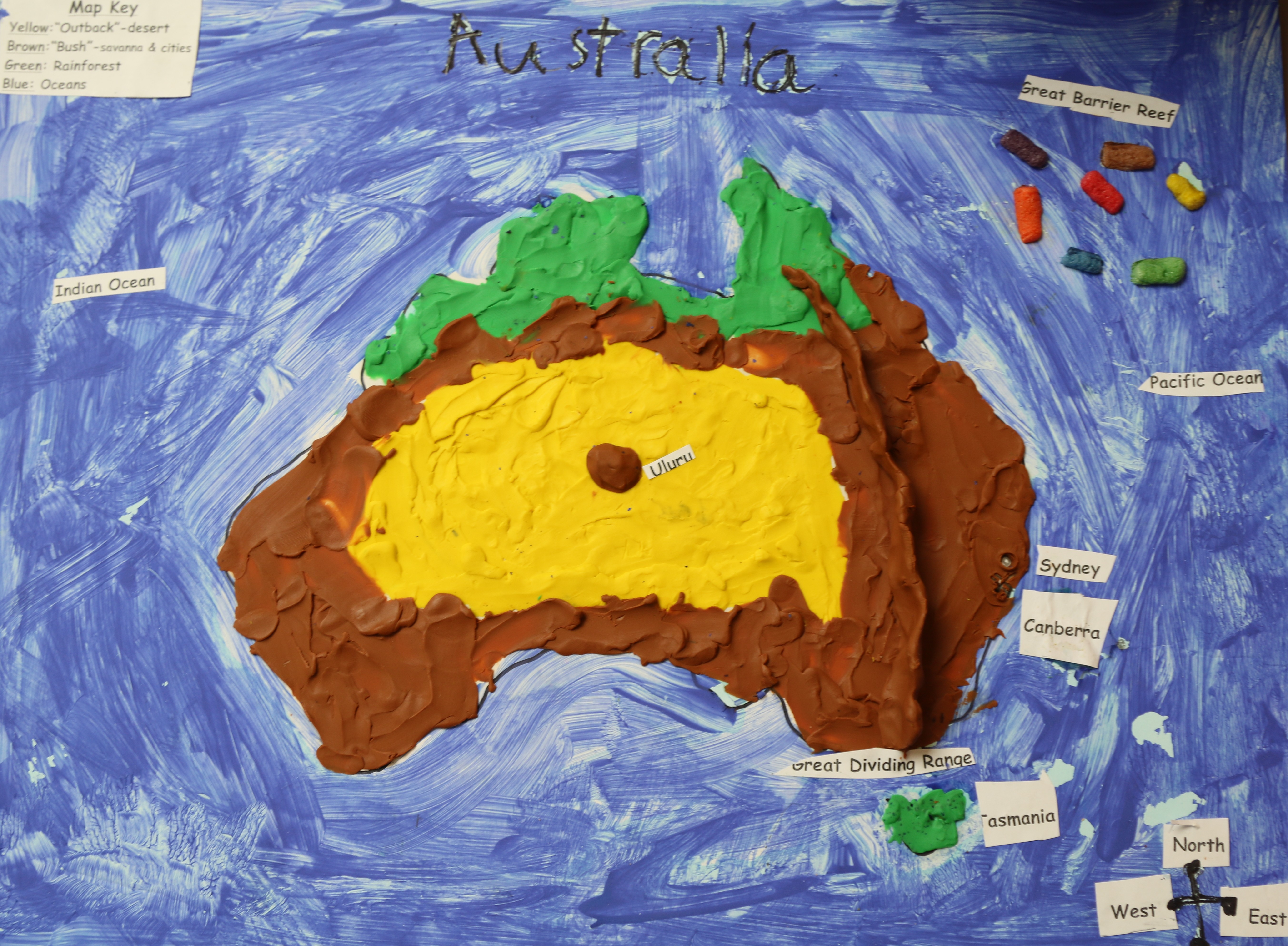 1st grade geography project