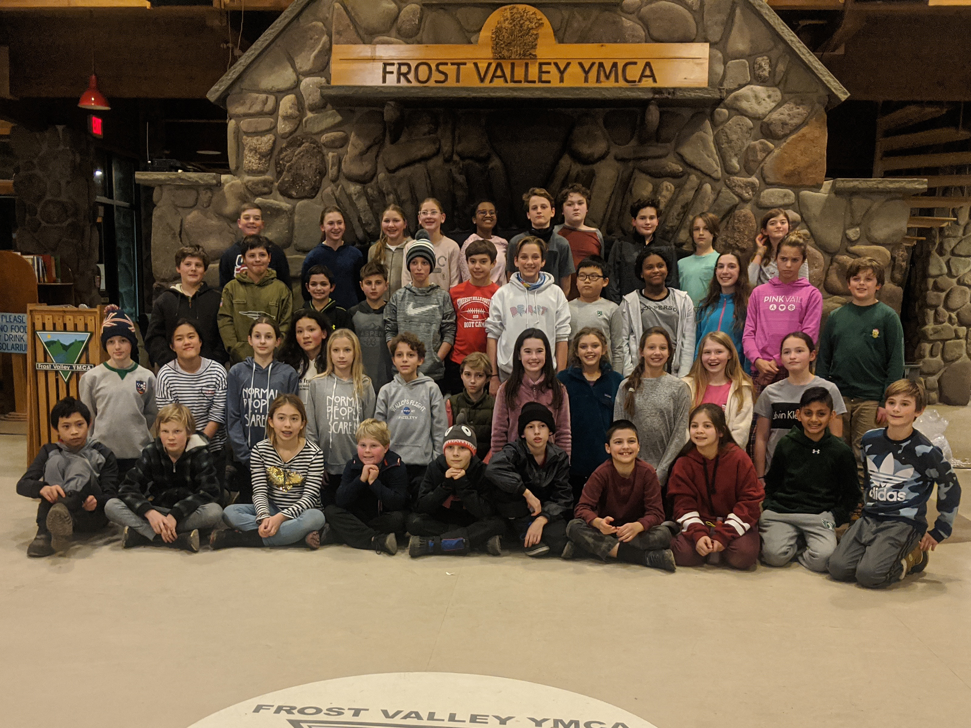 Students at Frost Valley