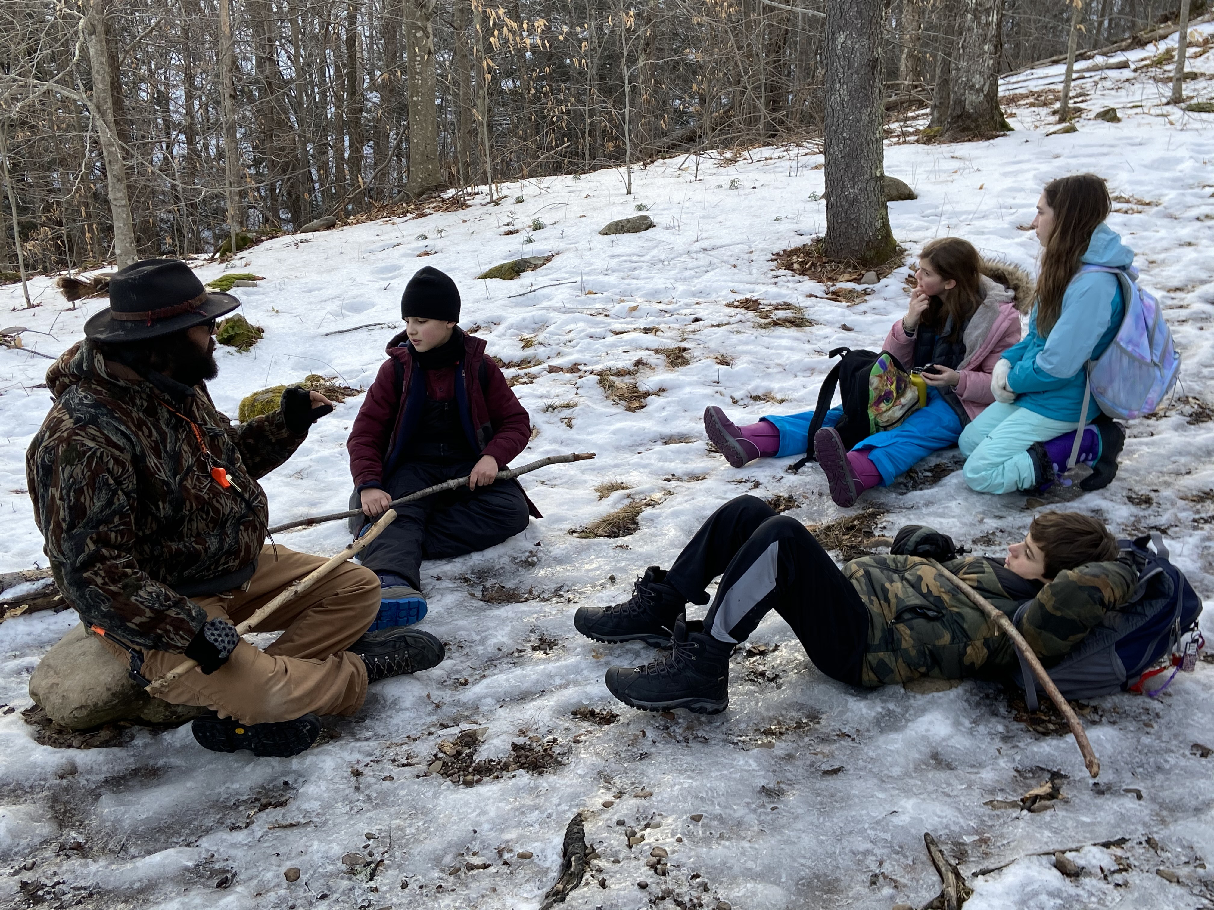 Students learn about the outdoors
