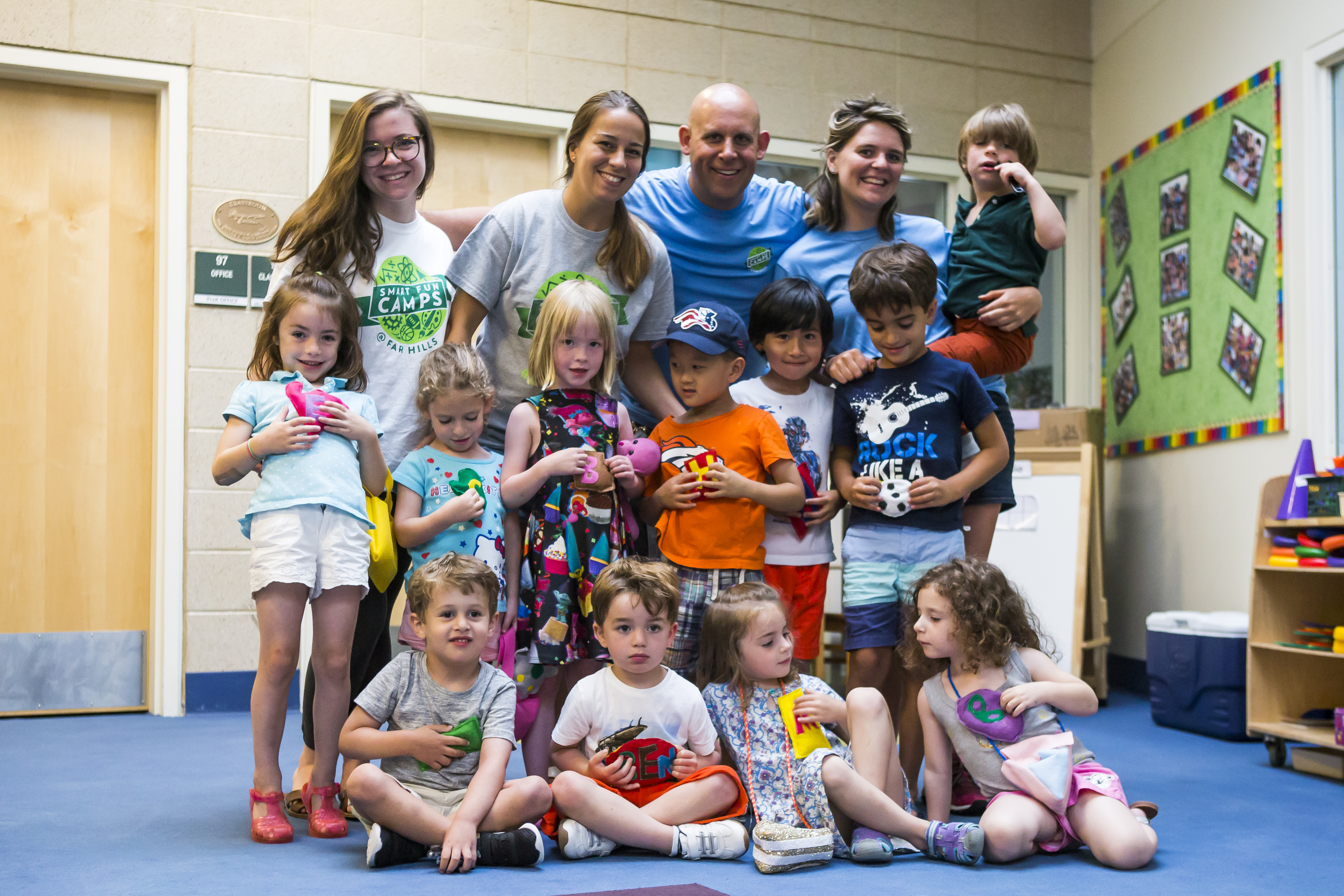 Campers with instructors